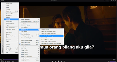 Menyimpan sync subtitle KMPlayer