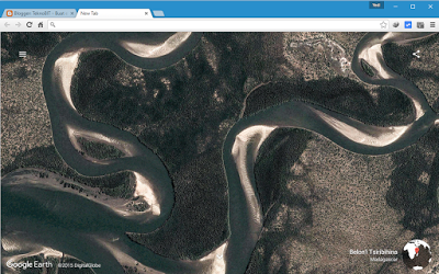 Tampilan ekstensi Earth View from Google Earth